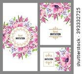 vintage delicate invitation... | Shutterstock .eps vector #393332725