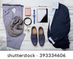 set of mans fashion and... | Shutterstock . vector #393334606