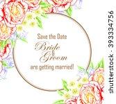 romantic invitation. wedding ... | Shutterstock .eps vector #393334756