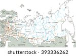 high detailed russia road map...