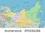 russia   highly detailed... | Shutterstock .eps vector #393336286