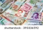 variety of middle east banknotes | Shutterstock . vector #393336592