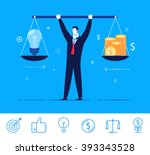 flat design vector concept... | Shutterstock .eps vector #393343528
