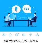 flat design vector concept... | Shutterstock .eps vector #393343606
