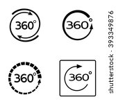 angle 360 degrees icon set | Shutterstock .eps vector #393349876