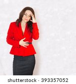 a young woman between 30 and 40 ... | Shutterstock . vector #393357052
