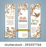 vector set of vertical spring...   Shutterstock .eps vector #393357766
