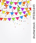 party background with flags... | Shutterstock .eps vector #393361645