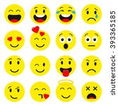 emoji set.  avatar isolated on... | Shutterstock .eps vector #393365185