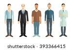 set of vector professionals.... | Shutterstock .eps vector #393366415