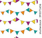 seamless circus pattern.bright... | Shutterstock .eps vector #393371656