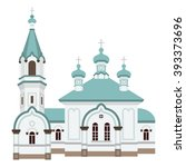 hakodate russian orthodox church | Shutterstock .eps vector #393373696