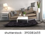 zero gravity sofa hovering in... | Shutterstock . vector #393381655