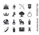 fairytale icons or fantasy... | Shutterstock .eps vector #393381736