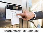 close up of businessperson hand ... | Shutterstock . vector #393385882
