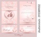 wedding set  the template pink | Shutterstock .eps vector #393389032