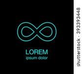 infinity minimal logo concept ... | Shutterstock .eps vector #393393448