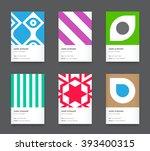 vector bright trendy vertical...   Shutterstock .eps vector #393400315