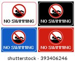 No Swimming. Human Behavior...