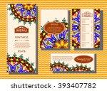 vintage vector pattern. hand... | Shutterstock .eps vector #393407782