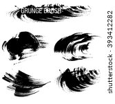 vector set of grunge brush... | Shutterstock .eps vector #393412282