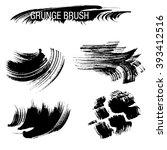 vector set of grunge brush... | Shutterstock .eps vector #393412516