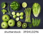 Green Healphy Vegetables And...