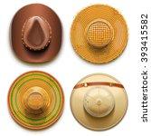vector hats set   Shutterstock .eps vector #393415582