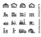 warehouse icon | Shutterstock .eps vector #393415975