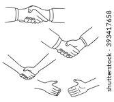 vector set of handshake | Shutterstock .eps vector #393417658