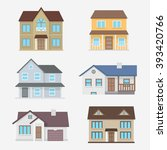 traditional house vector... | Shutterstock .eps vector #393420766