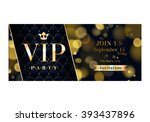vip party premium invitation... | Shutterstock .eps vector #393437896