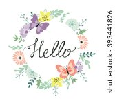 hello. vector illustration with ... | Shutterstock .eps vector #393441826
