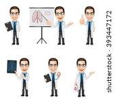 set of doctor character in 6... | Shutterstock .eps vector #393447172
