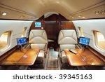 interior of jet airplane | Shutterstock . vector #39345163