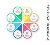 circular infographic element...   Shutterstock .eps vector #393457162