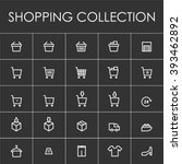 shopping line icon | Shutterstock .eps vector #393462892