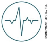 blue heartbeat icon isolated on ... | Shutterstock .eps vector #393467716
