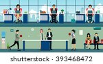 men and women playing table... | Shutterstock .eps vector #393468472