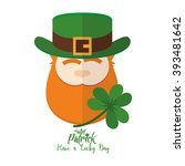 isolated traditional elf with... | Shutterstock .eps vector #393481642