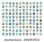 people avatar icon collection. | Shutterstock .eps vector #393492922