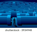 maze of problems and choices to ... | Shutterstock .eps vector #3934948