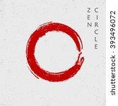 zen red circle  vector | Shutterstock .eps vector #393496072