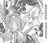 vintage garden flowers vector... | Shutterstock .eps vector #393509308