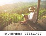 Man Traveler Is Reading...