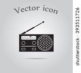 radio vector icon | Shutterstock .eps vector #393511726