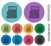 color micro sd memory card flat ...