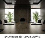 interior of modern boardroom...   Shutterstock . vector #393520948