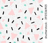 hand drawn abstract pattern in... | Shutterstock .eps vector #393536905