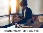 managing his timetable. side... | Shutterstock . vector #393539548
